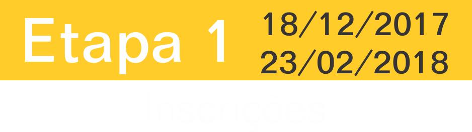Etapa 1: 18/12/2017 a 08/03/2018
