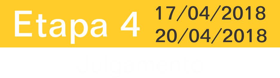Etapa 4: 17/04/2018 a 20/04/2018